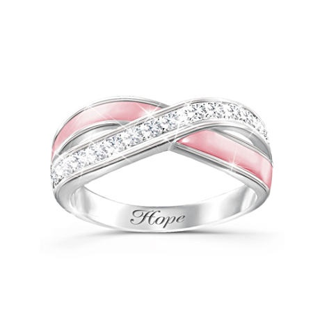 """""""Reflections Of Hope"""" Breast Cancer Support Diamonesk Ring --another GORGEOUS ring!"""