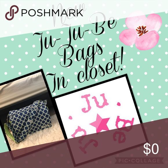 NEW JUJUBE ITEMS IN CLOSET! New Jujube items in my closet that need a home! Jujube Bags Baby Bags
