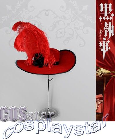 Black Butler - Madam Red Angelina Dalles Cosplay hat