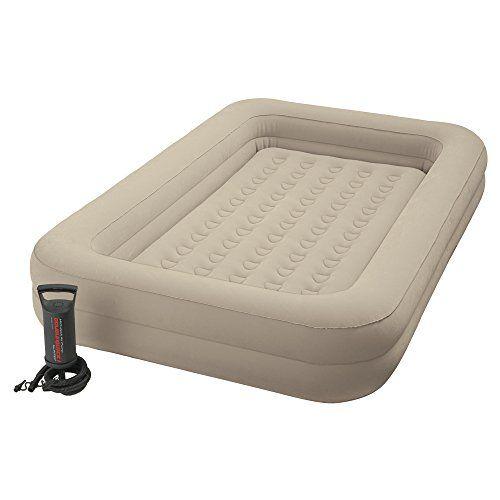 Intex 66810 Airbed Lit gonflable Enfant Floque + Gonfleur de Voyage: Dimensions: 168 x 107 x 25 cm Nécessite des piles: Non Descriptif…