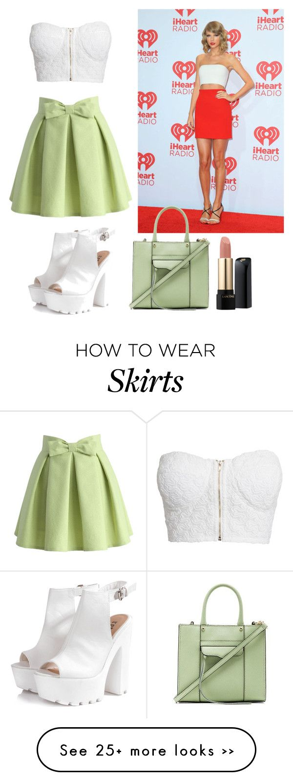 """""""Green skirt"""" by kennedyshalloup on Polyvore"""