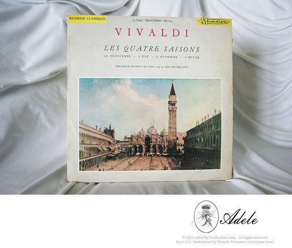 Rare #VIVALDI Les #QuatreSaisons (#FourSeasons), Collection Richesse Classique, Musidisc #France 33RPM #Vintage #Records http://etsy.me/1MAEI6R @Etsy