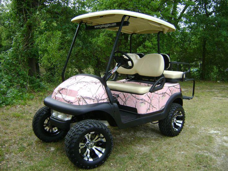 Pink Golf Cart Action Buggies Custom Golf Car And Golf