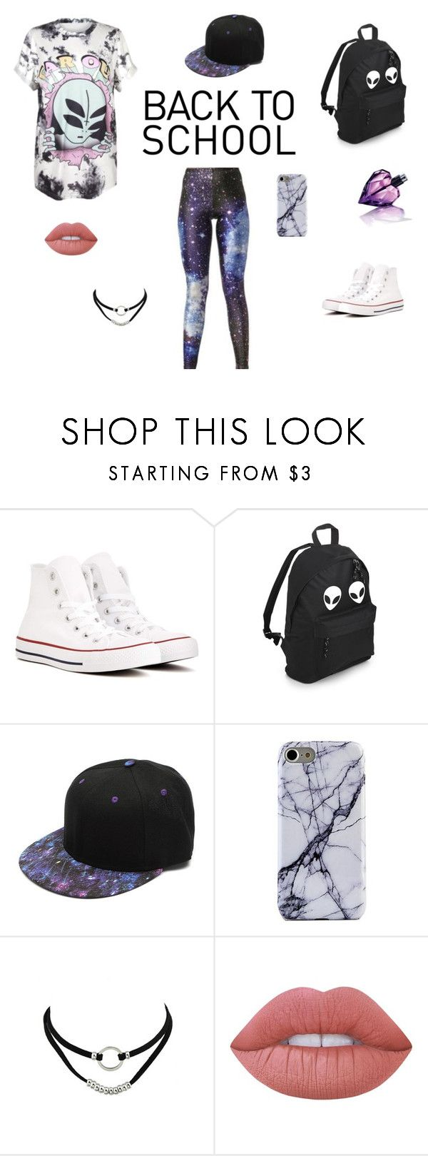 """Back to School"" by breezeshirt on Polyvore featuring Converse, Lime Crime, Diesel, GetTheLook, Summer, school and grunge"