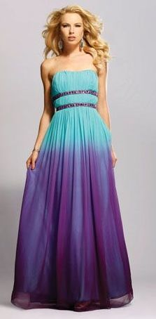 purple and turquoise dress