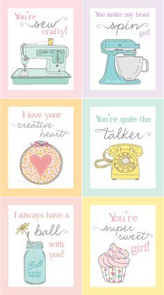 Delightful Distractions: The perfect Valentines for that crafty girl... a free printable.