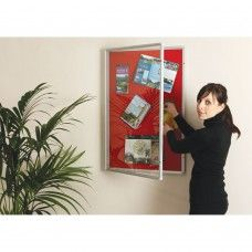 CLASSIC SHOWCASES -Felt covered 8mm pinboard core - FR Class 1 -Clear lockable POlycarbonate glazed door - FR Class 1 -Discrete allen key locking mechanism -Andised Aluminium frame -Choice of 4 felt colours: Blue, green, Red & Grey -Supplied complete with fixings http://dexion-anglia.co.uk/classic-showcases