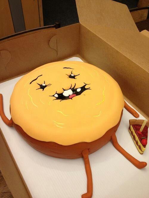 Adventure Time cinnamon bun birthday cake