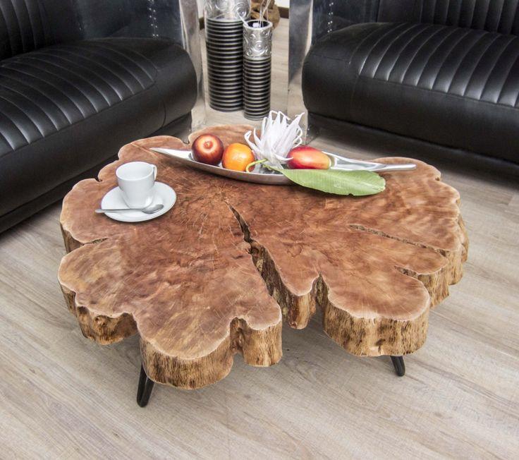 Couchtisch Baumstamm Lychee