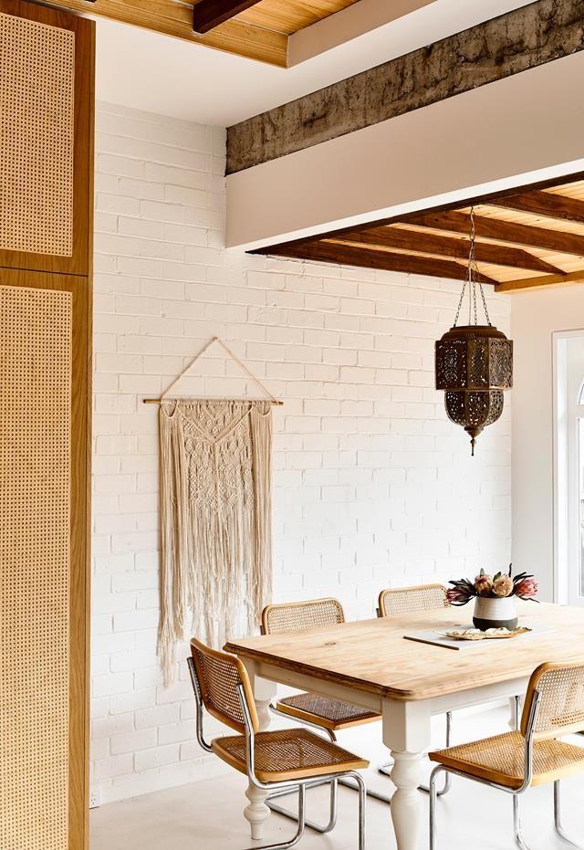 Minimalist style dining room room from interior architect Georgia Ezra's Elsternwick, Melbourne, home.