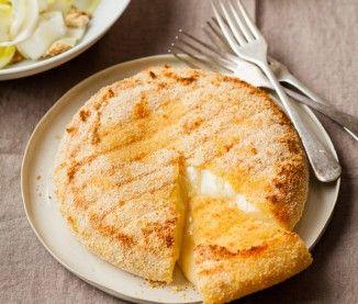 Fromage pour tartiflette pané au miel et salade d'endives