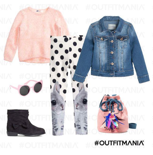 Picnic in campagna | Leggings stampati e un pratico giubbotto in denim multifunzionale... | combinano perfettamente... | #outfitmania #outfit #style #fashion #dresscode #amazing #H&M #zara #Monsoon #denim #baby | CLICCA SULLA FOTO PER SCOPRIRE L'OUTFIT E COME ACQUISTARLO