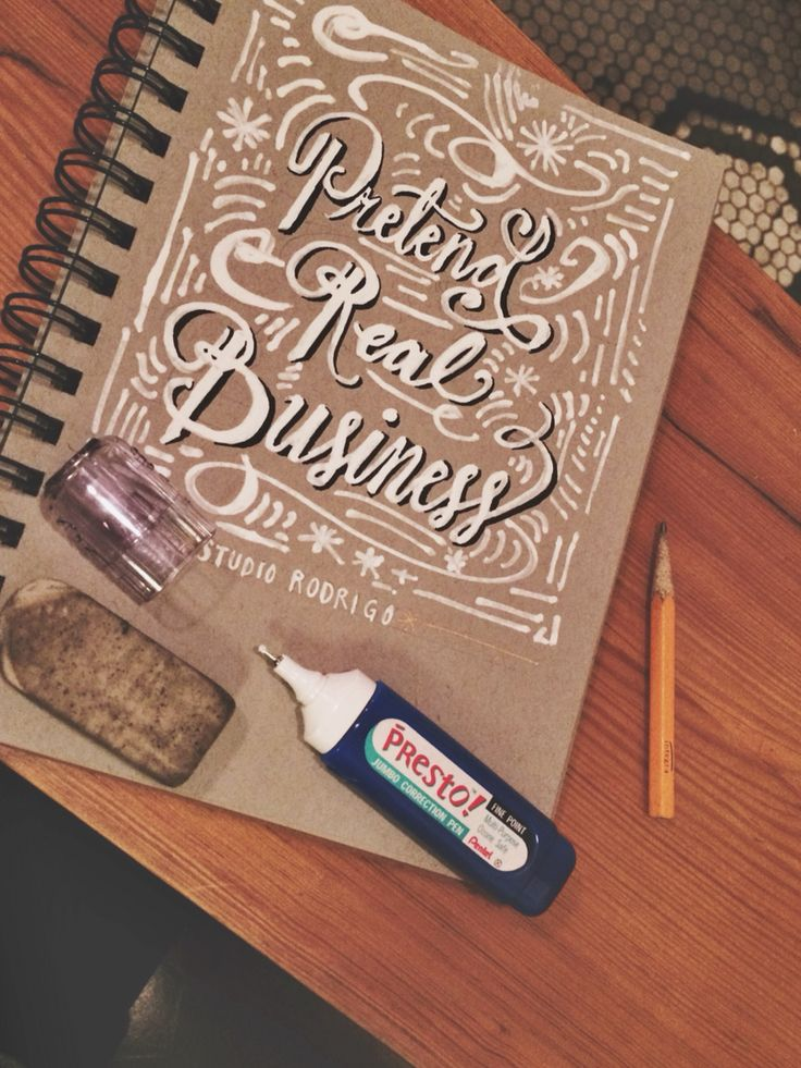 White out pens are great.  Calligraphy by 10monies.