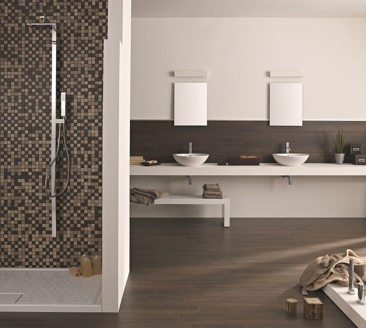 Treverk Wenge Timber Tile 300x1200mm by Tile Warehouse