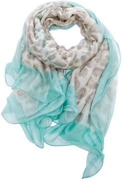 Leopard print and turquoise scarf So pretty!!!!!