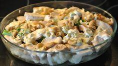 Blomkål og brokkoli form med spicy saus og kylling   Lavkarbo gjort enkelt