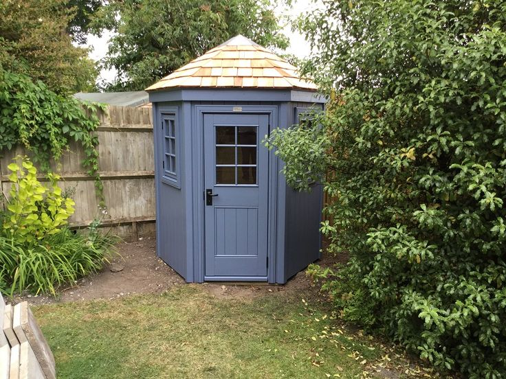 17 best images about the hexagonal shed on pinterest for Cedar shingle shed
