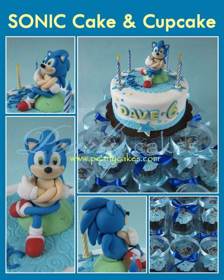 Sonic the Hedgehog Cake & Cupcake | Pearly cakes