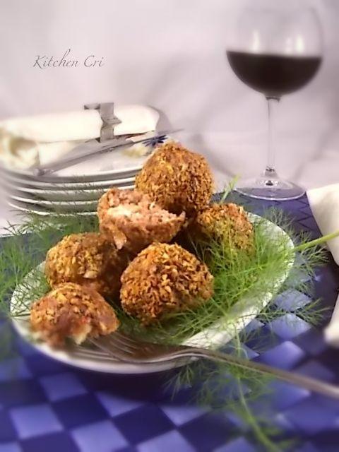 Polpette con mortadella e pistacchi - Kitchen Cri