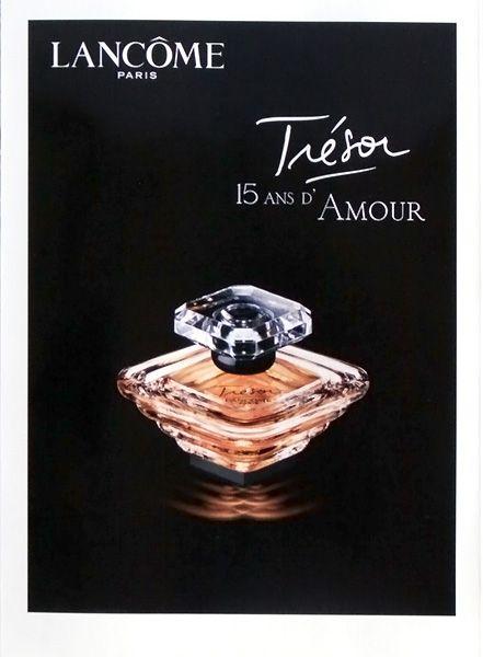 Publicité du parfum Trésor(2001 - 2005) de Lancome