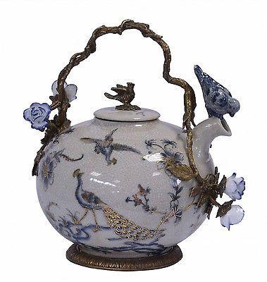 ... porzellan barock stil pfau teapots teekannen teekanne porzellan