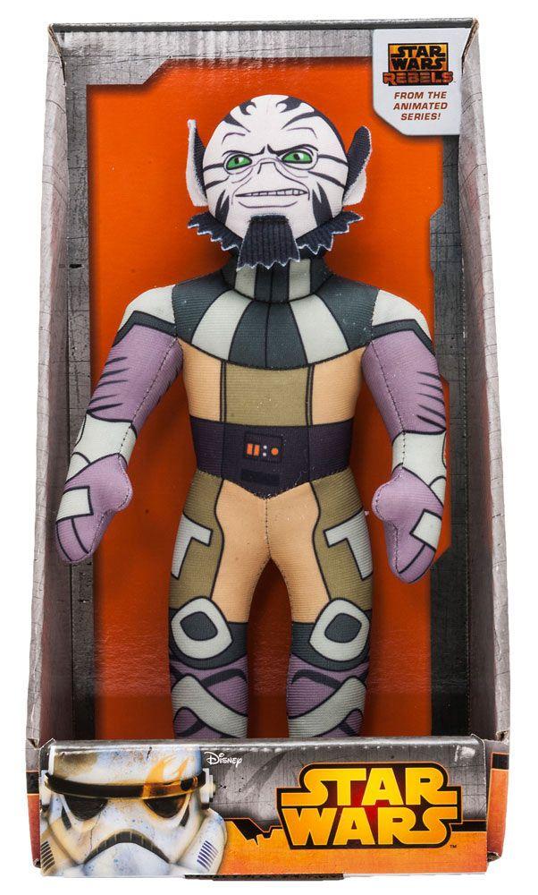 Peluche Zeb con sonido 25 cm. Star Wars Rebels. Joy Toy Estupendo peluche del personaje de Zeb de 25 cm de altura con sonido y fabricado en materiales de alta calidad, 100% en poliéster y que es por supuesto 100% oficial y licenciado. Es un artículo que encantará a los fans de la serie animada de TV 3D  Star Wars Rebels.