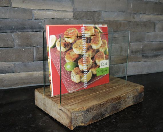 Cooking Book Stand. Coaster Holder. Reclaimed Wood by TicinoDesign
