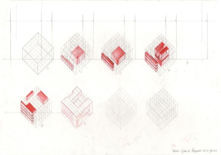 Terragni Composición y modulación de la Casa del Fascio de 1936, en Como (Italia)