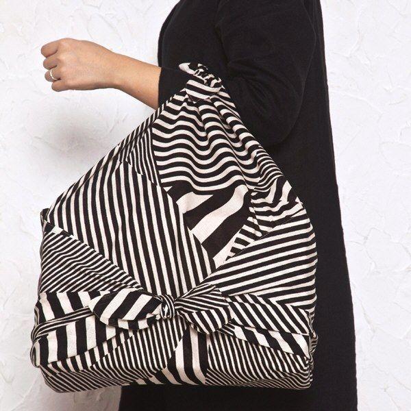 Striped furoshiki