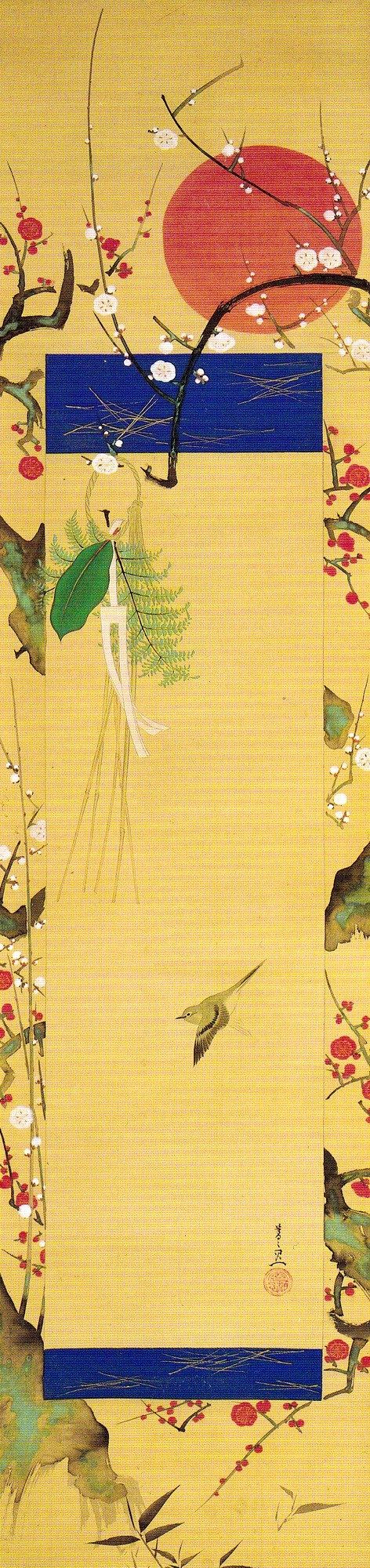 Title:歳首の図 Artist:鈴木其一 Suzuki Kiitsu