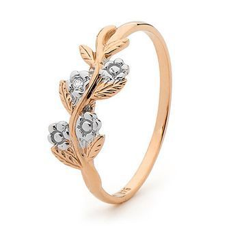Rose Gold Ring  Foreget Me Not  - BEE-R24071