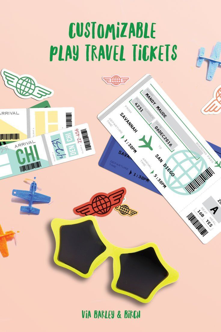 Plane Ticket Template - beepmunk