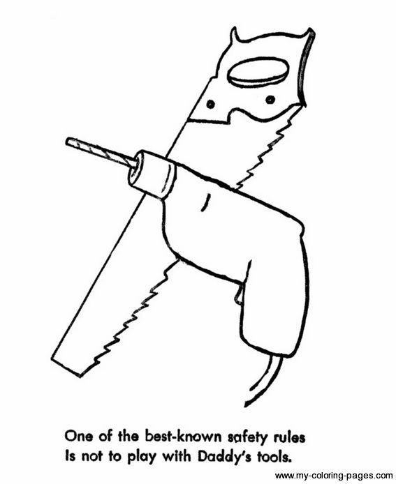 construction safety coloring pages-#3