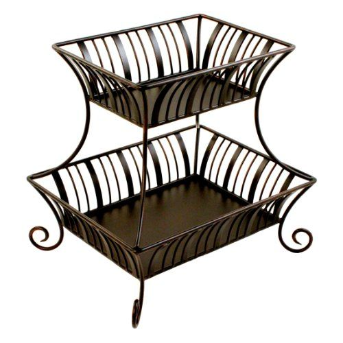 Mesa Home Products Delaware 2 Tier Basket Without Handle