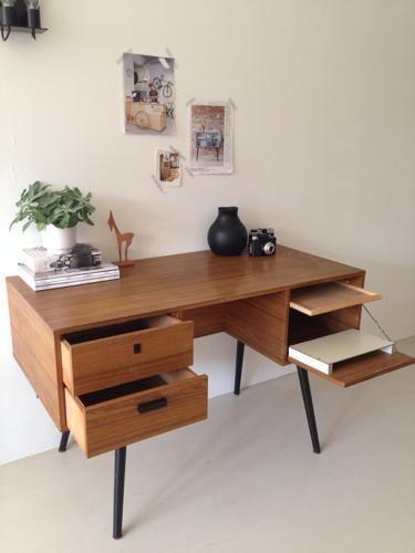 ≥ Vintage bureau bureautje sidetable tafel jaren 50 60 - Bureaus en Bureaustoelen - Marktplaats.nl