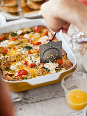 Brunch: Tomato Cheddar Strata, Fun Recipes, Breakfast Casserole, Food, Broccoli Recipes, Country Living, Tomatoes, Breakfast Recipes, Breakfast Brunch