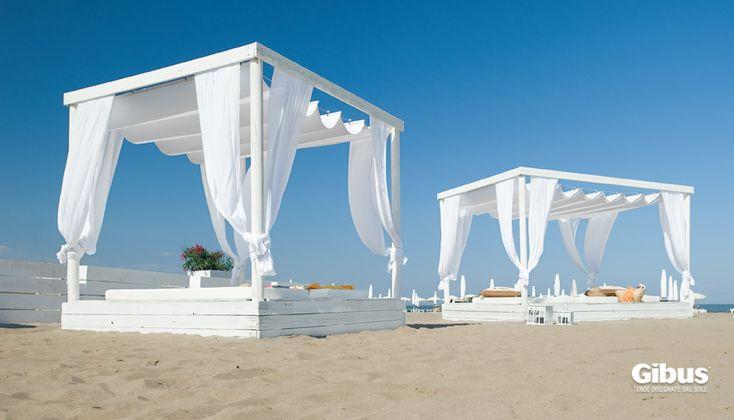 Pergole con tenda ad isola GIBUS serie ATELIER *lounge caffè, riviera adriatica*