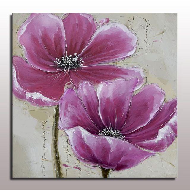 Flor de la Pintura Al Óleo Para Colgar En La Pared de la Sala Decorativa Pintura Al Óleo Del Arte En la Lona de Acrílico Hermosa Imagen de la Flor