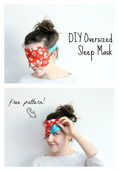 Free Sleep Mask Pattern. This larger sized sleep mask pattern really makes sure no light gets in and is perfect for travel or daytime naps.  It's lined with satin for a luxury feel.