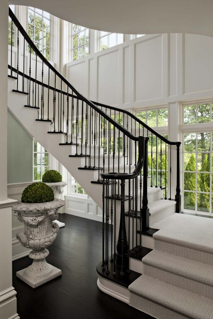 Style home westport ct cardello architects serving westport - Darien Connecticut Ct Residential Waterfront Renovation Stair Luxeinspirations Blogspot