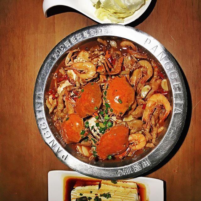 ピータン豆腐も「爽口泡菜」もおいしいよ。 #肉 #晩ご飯 #カニ #鍋 #ピータン豆腐