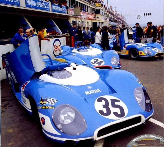 1969 Le Mans. Entered by Equipe Matra - Elf, #35 Matra-Simca MS630/650 3.0L V12. Driven by  Nanni Galli & Robin Widdows, finished in 7th place and completed 330 laps.