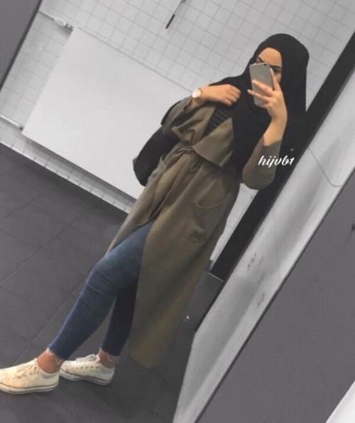 How to style the olive green outfits with hijab …