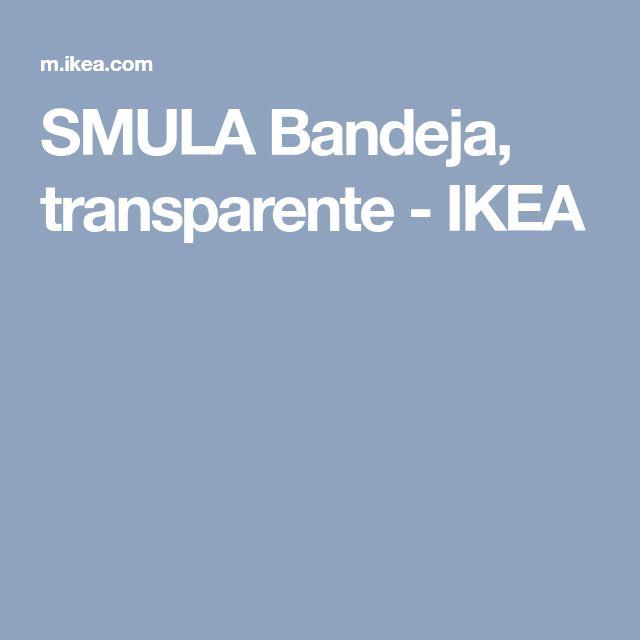 SMULA Bandeja, transparente - IKEA