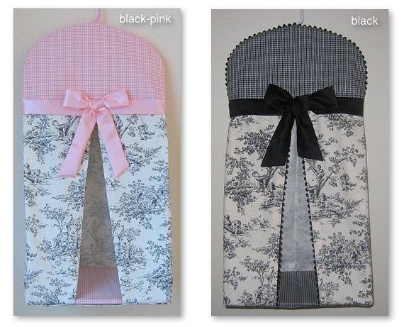 Central Park Toile Baby Nursery Diaper Stacker / Colors: