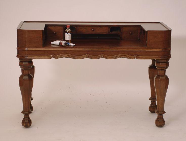 Antique Edwardian Mahogany Spinet Desk - Harrington Galleries