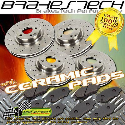 F+R Cross Drilled Rotors & Ceramic Pads for 2011-2015 Ram 1500 w/ 5 Lugs