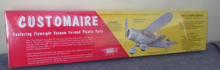 "SIG Customaire 20"" Two Winger SIG Kit FF-26 Balsa Model Airplane Kit #Customaire"