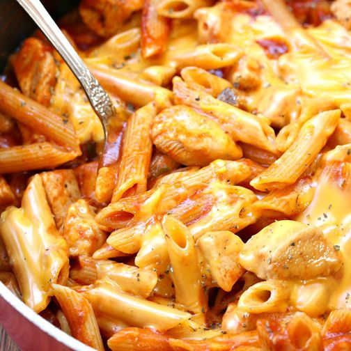 One Pot Manly Cheesy Chicken Penne Recipe - RecipeChart.com