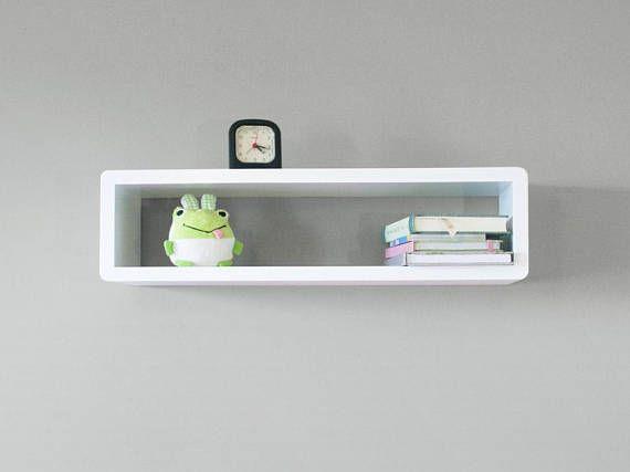 Whyte Slim Modern Floating Wall Shelf Cube